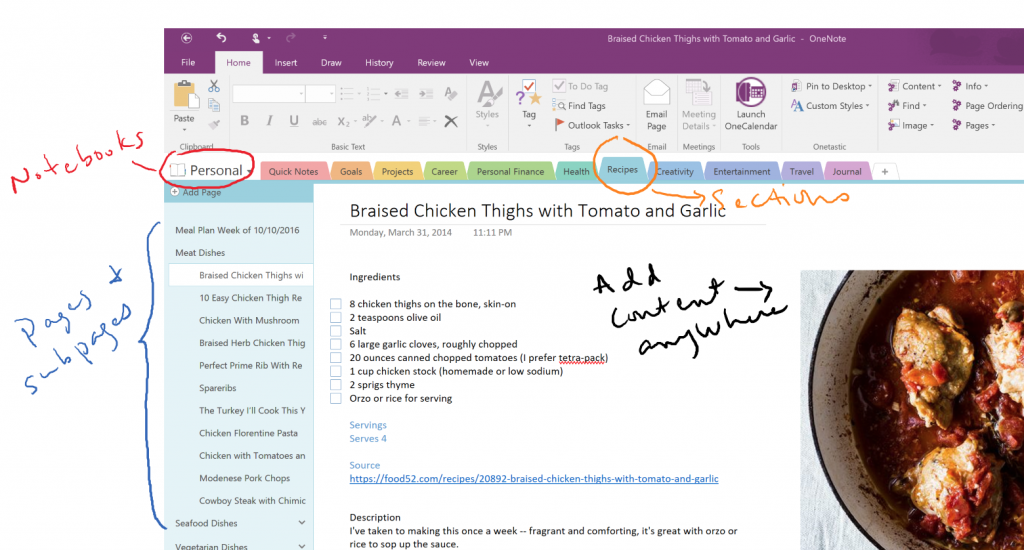 MS OneNote lets you be creative