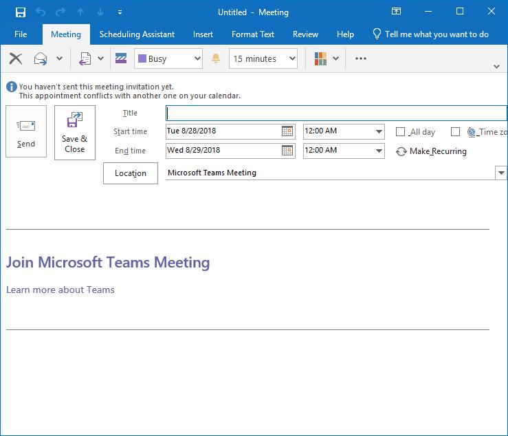MS Teams Meeting link