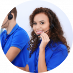 Pharian Call Centre Female Employee Waiting Call - IT Services Crawley