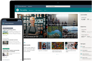 Image of SharePoint intranet on PC & Mobile