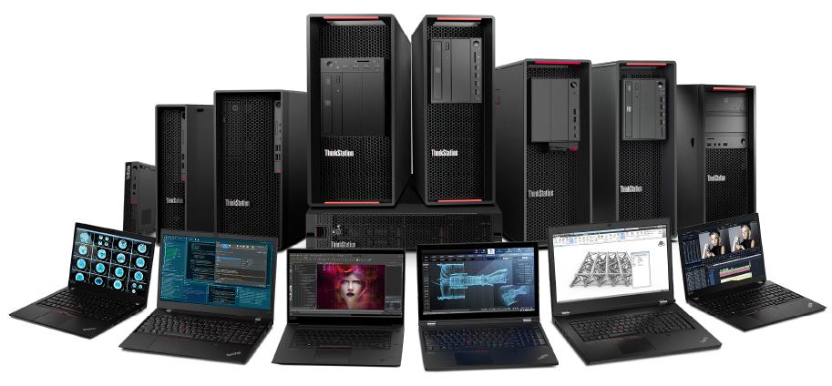 Lenovo ThinkStation Workstation Family with Rack & Laptops
